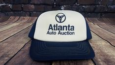 91aba364bc4fd 90s Atlanta Auto Auction Snapback Cap Hat 90s  Cap  Everyday Mesh Cap