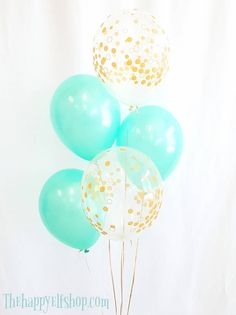 "11"" MINT AND CLEAR GOLD CONFETTI BALLOONS. MINT AND GOLD. MINT BALLOONS. GOLD CONFETTI BALLOONS. MINT AND GOLD BALLOONS. MINT LATEX #babyshowerideas4u #birthdayparty #babyshowerdecorations #bridalshower #bridalshowerideas #babyshowergames #bridalshowergame #bridalshowerfavors #bridalshowercakes #babyshowerfavors #babyshowercakes"