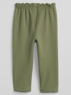 3f3bf5ce2c3 Gap Baby Paperbag-Waist Pants In French Terry - Oatmeal Heather 4 Yrs