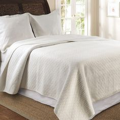 Vashon Reversible Quilt Set in Ivory  at Joss and Main
