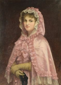 View Untitled Young woman in a pink dress and hooded shawl holding a mask by Camille Deschamps on artnet. Browse upcoming and past auction lots by Camille Deschamps. Historical Costume, Historical Clothing, Victorian Paintings, 1880s Fashion, Fashion Art, Fashion Portraits, Camille, Masquerade Ball, Art Studies