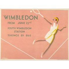 vintage Wimbledon poster via The London Transport Museum