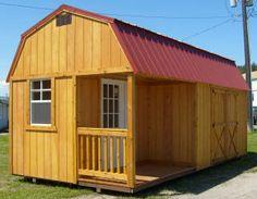 Old Hickory Sheds Side Porch - Modern