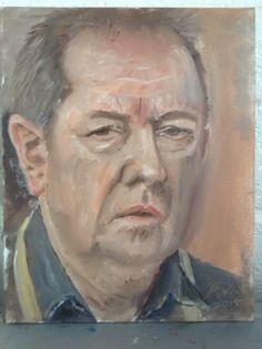 Oil. Self portrait, mirror.