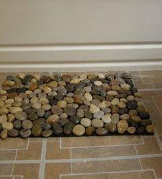 how to make a pebble mat