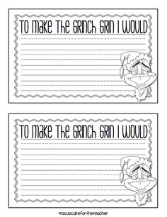 1000+ images about Christmas/2nd grade on Pinterest | Grinch, The ...