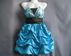 Sweet Blue Party Dress Cocktail Dress