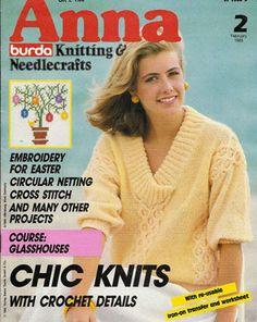 Anna Burda Knitting & Needlecrafts February 1985 Issue