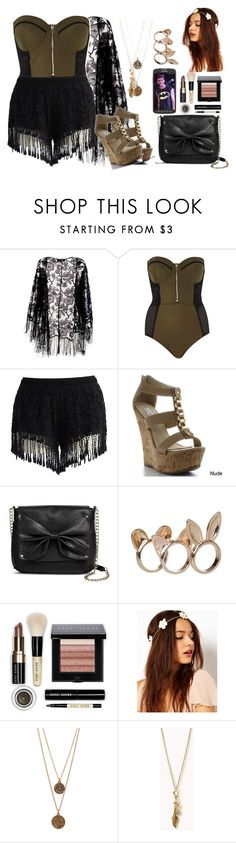 """I'm back (read the D)"" by sabrina-emo ❤ liked on Polyvore featuring beauty, Pussycat, River Island, Chicwish, Sam & Libby, Bobbi Brown Cosmetics, Samsung, Bee Charming and Forever 21"