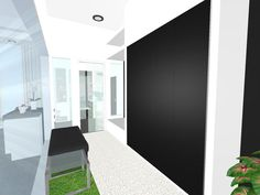 NEW USER PROJECT!  Really fun being able to look in through the glass!  Did they leave anything out of this floor plan?  Visualize your remodeling projects for FREE!  3D floor plan designed in RoomSketcher by TINY ROOM