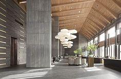 La Cloud verlichting en akoestiek Hotel Lounge, Lobby Lounge, Hotel Lobby, Lobby Interior, Interior Architecture, Hotel Interiors, Office Interiors, Hotel Corridor, Office Lobby