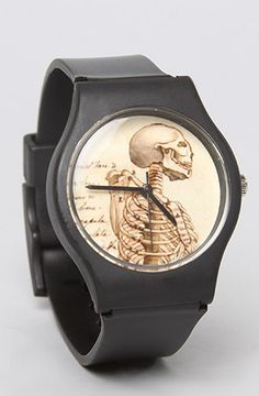May 28th The Vintage Skull Watch with Black Band : MissKL.com - Cutting Edge Women's Fashion, Accessories and Shoes.