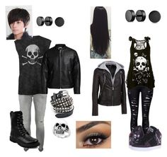 """""""Son and Daughter of Hades"""" by nina-111 on Polyvore featuring Dondup, Jack & Jones, Funk Plus, Effy Jewelry, Bling Jewelry, WithChic, Osiris and Wilsons Leather"""