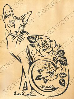Print and cut Сat SVG Sphynx Сat SVG Kitten Svg Kitty SVG