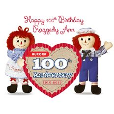 TDmonthly® - New Toys and Games: Aurora® 100th Raggedy Ann from AURORA WORLD INC.