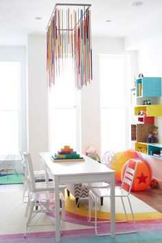 Spruce up your kids' room with a colorful ceiling pendant made with this hardware store standby.