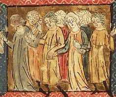 Miniature from teh 14th century French manuscript 'Roman de la Rose'.