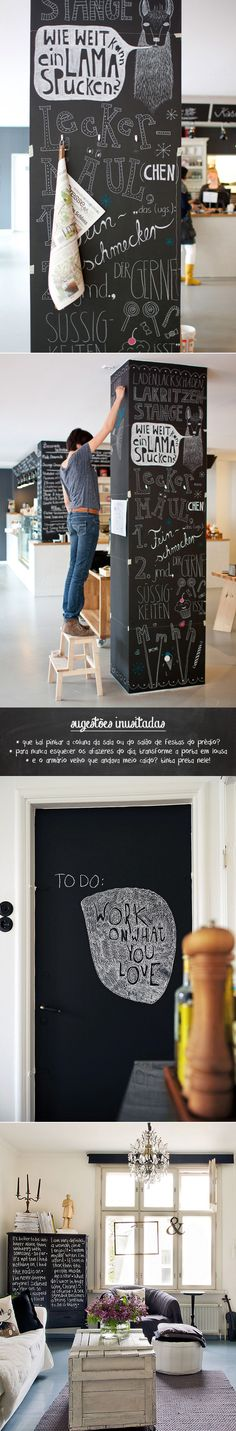 blackboard paint #DIY #blackboard #decor #lousa