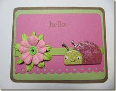 Ladybug Cricut card. (Create a Critter)