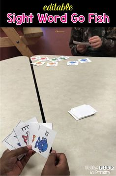 Students love this sight word go fish card game! It's editable so you can enter your own words!