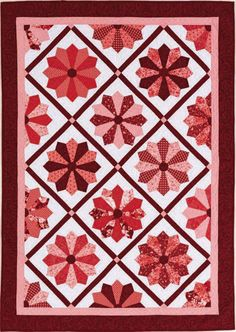 """Roses are Red"", designed by Tammy Silvers using Fabri-Quilt fabrics - QUILT Oct/Nov 2013."