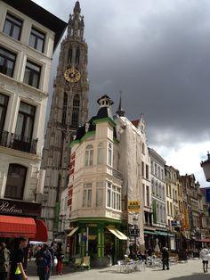 De Oude Koornmarkt in Antwerpen