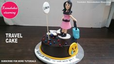 travel to london miss you cake design ideas decorating tutorial video classes courses at home Cartoon Birthday Cake, Friends Birthday Cake, Animal Birthday Cakes, Frozen Birthday Cake, Cute Birthday Cakes, Beautiful Birthday Cakes, Cake Decorating For Beginners, Cake Decorating Classes, Easy Cake Decorating