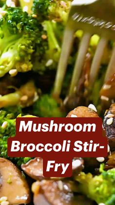 Mushroom Broccoli, Asian Recipes, Beef Recipes, Vegetarian Recipes, Cooking Recipes, Healthy Recipes, Broccoli Stir Fry, Stuffed Mushrooms, Veggie Dishes