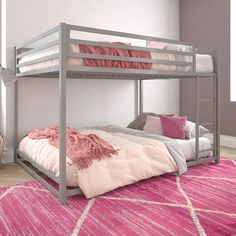 Shop a great selection of DHP Miles Metal Full, Silver Bunk Bed. Find new offer and Similar products for DHP Miles Metal Full, Silver Bunk Bed. Double Bunk Beds, Modern Bunk Beds, Metal Bunk Beds, Full Bunk Beds, Double Deck Bed, Triple Bunk, Bunk Beds For Girls Room, Bunk Bed Rooms, Bunk Beds With Stairs