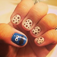 My Cookies and Cookie Monster Nailart