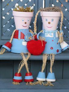 Flower pot couple