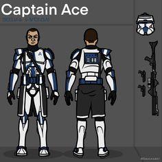Star Wars Characters Pictures, Star Wars Pictures, Star Wars Clone Wars, Star Wars Art, Star Wars Commando, Star Wars Personajes, 501st Legion, Star Wars Drawings, Star Wars Models