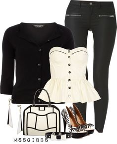 """""""B/W"""" by mssgibbs ❤ liked on Polyvore"""