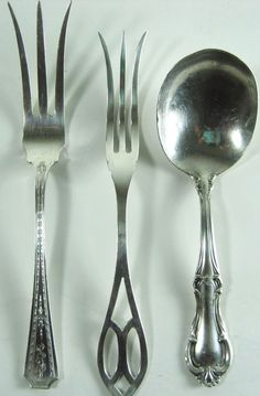 Lot Of 3 Sterling Silver Spoon & Two Fork.  RRR 89 #Assorted