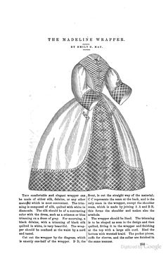 The Madeline wrapper, Peterson's, 1862.