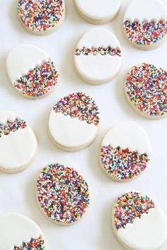Simple and Easy to make Easter Egg Biscuits. Add colour by filling them with Baking Time Club Vegan & Gluten Free Rainbow 100's & 1000's (Non-Pareils).