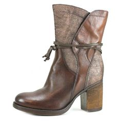 CafeNoir-TLB105-Women-Round-Toe-Leather-Brown-Ankle-Boot