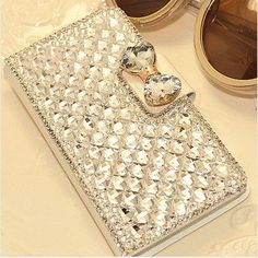 Extreme glitter and glam! Bling wallet case hoesje voor Samsung Galaxy S4