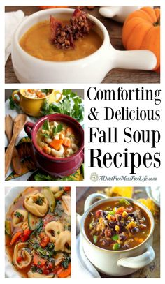 These easy, healthy, and delicious soup recipes will warm you up on a cold fall day. Vegetarian, beef, chicken and gluten free options included.