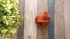 Wallet purse leather mahogany for man by MarieHamonou on Etsy