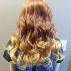 Ombre on a natural red head! / ginger / ombre / red / blonde