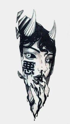 Japanese Tattoo Art, Japanese Tattoo Designs, Japanese Sleeve Tattoos, Japanese Art, Traditional Japanese, Dark Art Drawings, Tattoo Design Drawings, Art Drawings Sketches, Tattoo Sketches