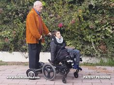 Caregiver power assist wheelchair hoverboard Electric Personal Assistive Mobility Devices