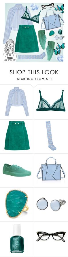 """PISCES STYLE"" by cihara on Polyvore featuring moda, Tome, H&M, MANGO, Vans, Skagen, Essie e vintage"