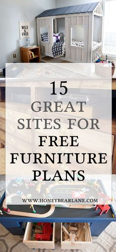 If you're looking to start building, getting furniture plans is a good idea. Here's a list of 15 awesome sites for free furniture building plans. # woodworking plans 15 Awesome Sites for Free Furniture Building Plans - Honeybear Lane Woodworking Furniture Plans, Beginner Woodworking Projects, Popular Woodworking, Diy Woodworking, Woodworking Classes, Youtube Woodworking, Woodworking Machinery, Woodworking Magazines, Woodworking Articles