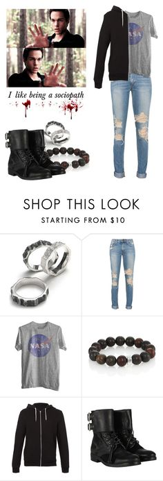 """""""Kai Parker - tvd / the vampire diaries"""" by shadyannon ❤ liked on Polyvore featuring Nest, Topman and AllSaints"""