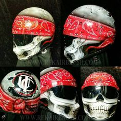 Rekairbrush Custom Airbrushed Motorcycle Helmet 82