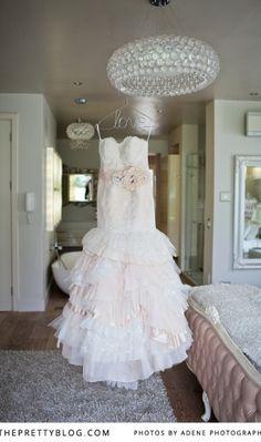 nude bride dress