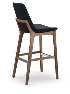 Wood bar stools with backs, like the Eiffel Wood Stool by sohoConcept, are an important comfort element in any contemporary...
