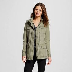 Women's Utility Jacket Moss (Green) S - Merona, Size: Small
